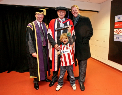 Mick, Archie & Michael - Honorary Doctor of Sport - Southampton 2008